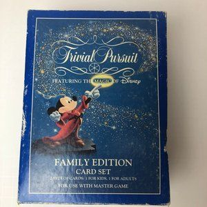 Mickey Trivial Pursuit Family Edition Card Set Featuring The Magic of Disney